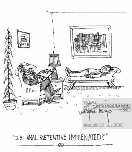 'Is anal retentive hyphenated?'