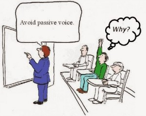 Image result for avoid passive voice