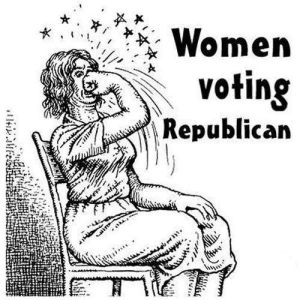 woman voting repblican